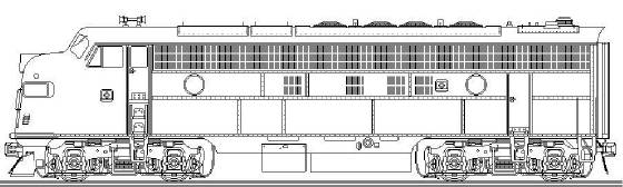 EMD FP9A DRAWING MICHAEL EBY